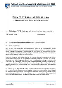 Einverständniserklärung - Datenschutz und Recht für eigenes Bild